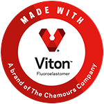 Made with Viton™ Flouroelastomer - a brand of The Chemours Company
